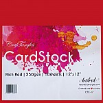 "CrafTangles cardstock 12"" by 12"" (250 gsm) (Set of 10 sheets) - Rich Red"