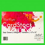 CrafTangles cardstock 12 by 12 (250 gsm) (Set of 10 sheets) - Sap Green