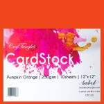"CrafTangles cardstock 12"" by 12"" (250 gsm) (Set of 10 sheets) - Pumpkin Orange"