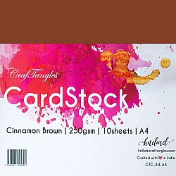 CrafTangles cardstock A4 (250 gsm) (Set of 10 sheets) - Cinnamon Brown
