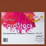CrafTangles cardstock 12 by 12 (250 gsm) (Set of 10 sheets) - Cinnamon Brown