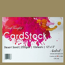 CrafTangles cardstock 12 by 12 (250 gsm) (Set of 10 sheets) - Desert Sand