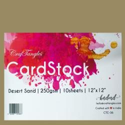 "CrafTangles cardstock 12"" by 12"" (250 gsm) (Set of 10 sheets) - Desert Sand"