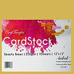 CrafTangles cardstock 12 by 12 (250 gsm) (Set of 10 sheets) - Beachy Brown