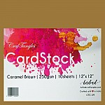 CrafTangles cardstock 12 by 12 (250 gsm) (Set of 10 sheets) - Caramel Brown