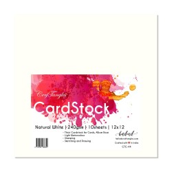 "CrafTangles cardstock 12"" by 12"" (240 gsm) (Set of 10 sheets) - Natural White"