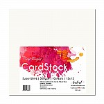 """CrafTangles cardstock 12"""" by 12"""" (350 gsm) (Set of 10 sheets) - Super White"""