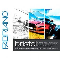 Fabriano Bristol Glued Block A4