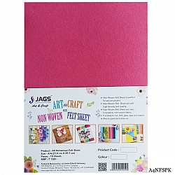 A4 Felt Sheets - Pink (Pack of 10 sheets)