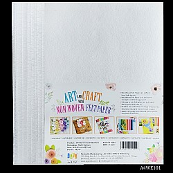 A4 Felt Sheets - White (Pack of 10 sheets)