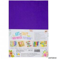 A4 Felt Sheets - Violet (Pack of 10 sheets)