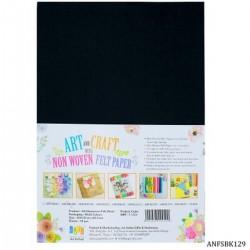 A4 Felt Sheets - Black (Pack of 10 sheets)
