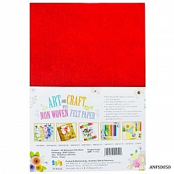 A4 Felt Sheets - Red (Pack of 10 sheets)