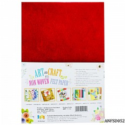 A4 Felt Sheets - Dark Red (Pack of 10 sheets)