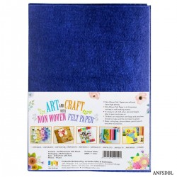 A4 Felt Sheets - Dark Blue (Pack of 10 sheets)