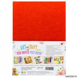 A4 Felt Sheets - Dark Orange (Pack of 10 sheets)