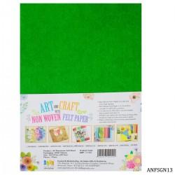A4 Felt Sheets - Green (Pack of 10 sheets)