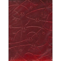 A5 Designer Paper - thick metallic embossed paper (Red)