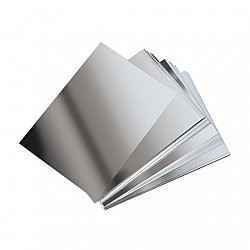 A5 Mirror Paper - thick metallic embossed paper (Silver)