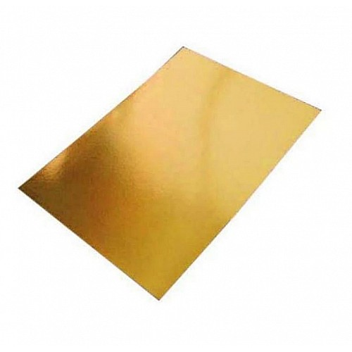 A5 Mirror Paper - thick metallic embossed paper (Golden)