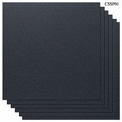 Cardstock 12 by 12 (300 gsm) (Set of 6 sheets) - Black