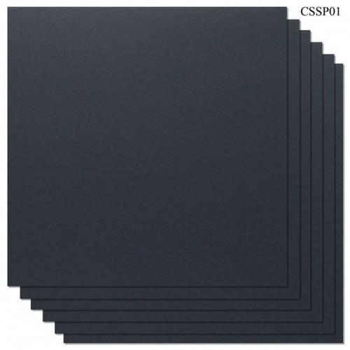 Cardstock 12 by 12 (300 gsm) (Set of 6 sheets) - Black