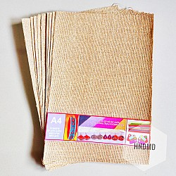 Natural Burlap with gold twine (10 A4 sheets)