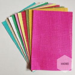 Natural multicolor Burlap (10 A4 sheets)