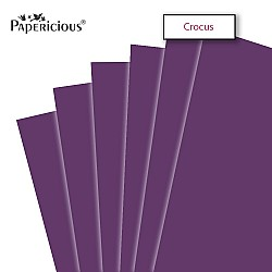 """Papericious Crocus cardstock (Set of 10 sheets) - 12"""" by 12"""" (250 gsm)"""