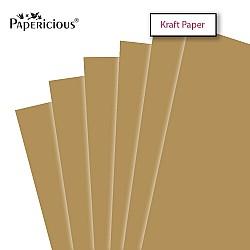 "Papericious Kraft cardstock (Set of 10 sheets) - 12"" by 12"" (250 gsm)"