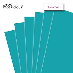 "Papericious Tame Teal cardstock (Set of 10 sheets) - 12"" by 12"" (250 gsm)"