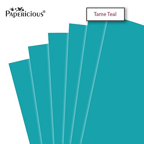 Papericious Tame Teal cardstock (Set of 10 sheets) - 12 by 12 (250 gsm)