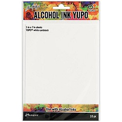 Tim Holtz Alcohol Ink White Yupo Paper 10 Sheets
