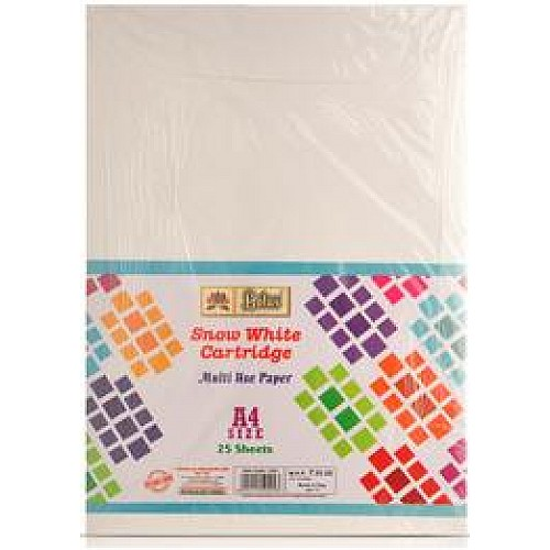 Lotus Snow-White Cartridge Paper A4 - Pack of 25 Sheets