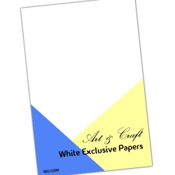 "Art & Craft White Exclusive Paper Pack - 12 by 12"" (50 Sheets)"