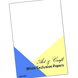 "CrafTangles White cardstock (Set of 25 sheets) - 6"" by 6"" (160 gsm)"