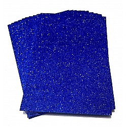 Glitter A4 Foam Sheets - Dark Blue (Set of 5)