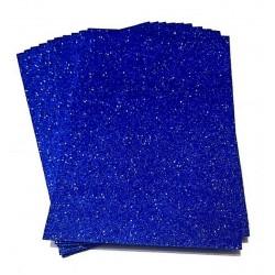 Glitter A4 Foam Sheets - Dark Blue (Set of 5)