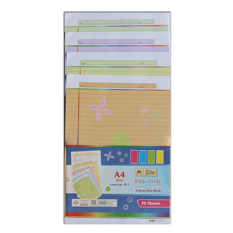 Buy lotus designer colour sheets a4 one side simple flowers out of stock lotus designer colour sheets a4 one side simple flowers 20 sheets mightylinksfo