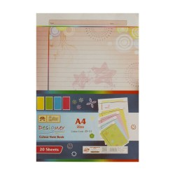 Lotus Designer Colour Sheets - A4 (One Side Multi Design D11) - 20 Sheets