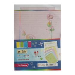 Lotus Designer Colour Sheets - A4 (One Side Multi Design D9) - 20 Sheets