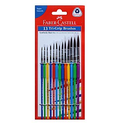 Faber Castell - Tri Grip Round Paint Brushes Set (Set of 13 pcs)