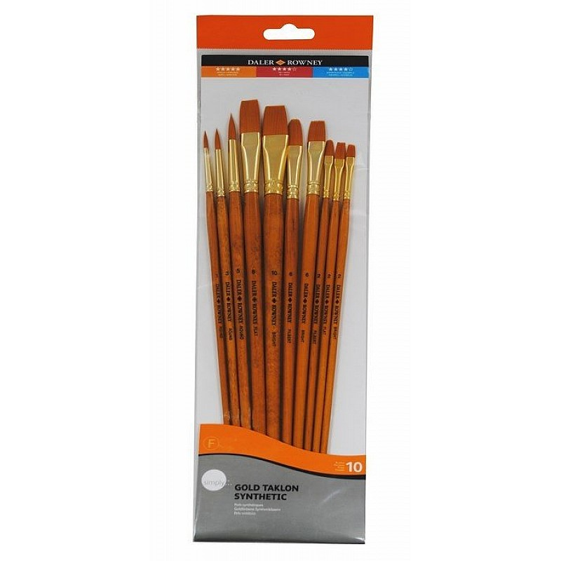 Buy daler rowney simply gold taklon synthetic long handled for Best paint supplies