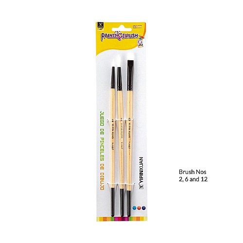 Classical Painting Brush (Set of 3)