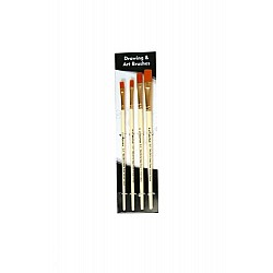 Arora Art Brushes 4 pieces Flat Taklon Brushes