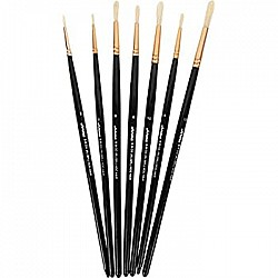 Arora Art Brushes 7 pieces Round Hog Brushes