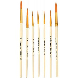 Arora Art Brushes 7 pieces Round Taklon Brushes