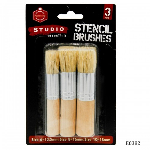 Stencil Brushes (Set of 3 brushes, size -6, 8 and 10 mm)