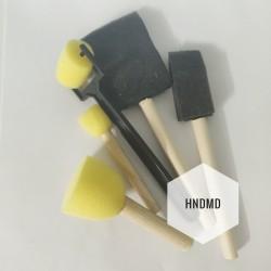 Foam or Sponge Brush Set with Brayer (Pack of 5 pcs)