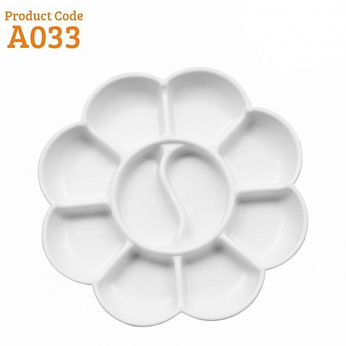 Khyati Colour Mixing Plate / Palette - Flower Small
